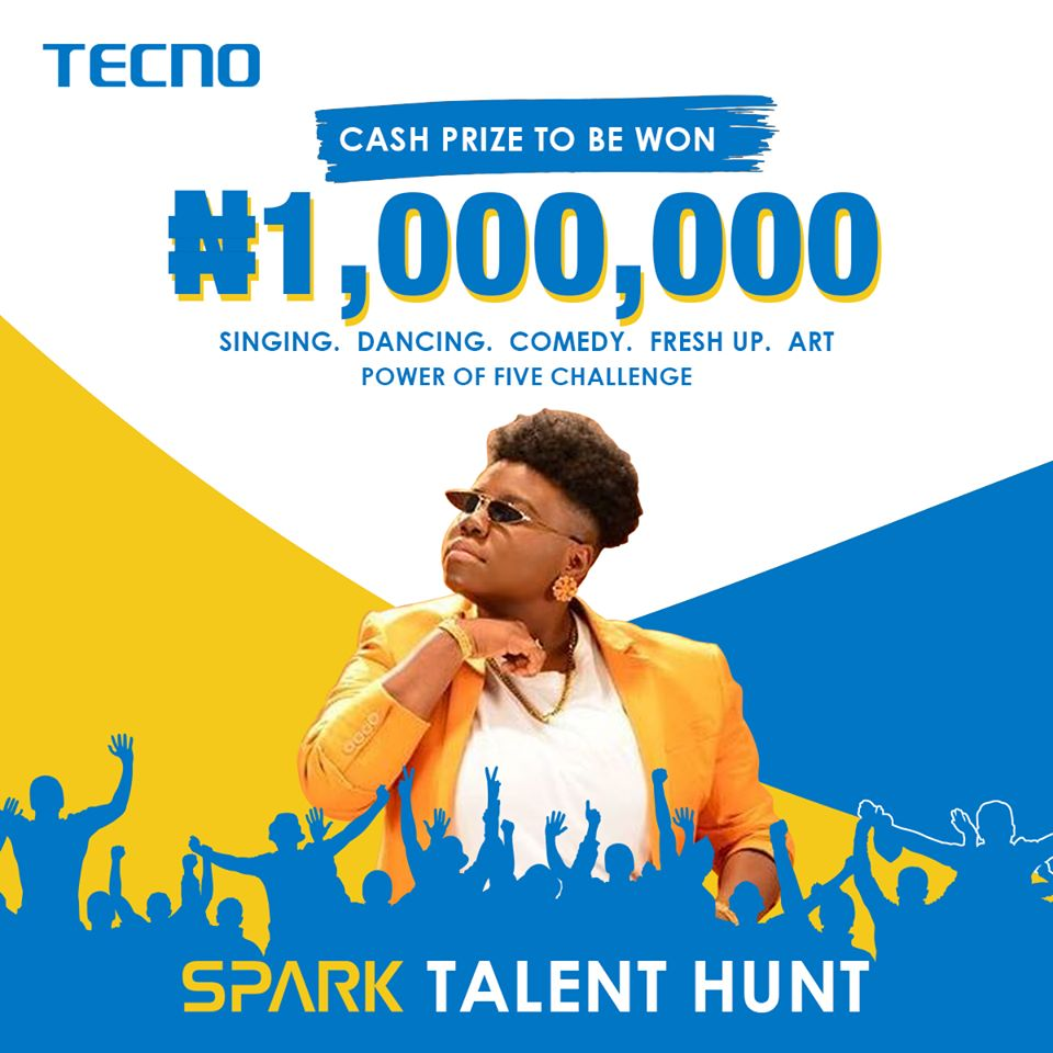 Win N1 Million Naira from the Tecno Spark Talent Hunt - Read How to Participate below.