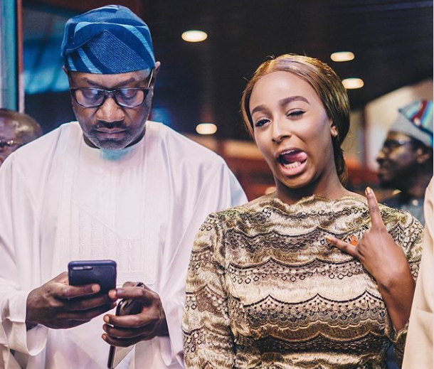 DJ Cuppy dives into the sea, pranks her father with Heart attack.