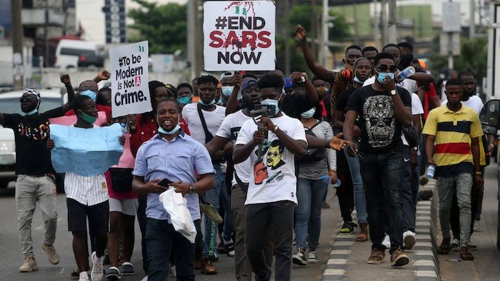 Again #EndSARS Trends on Twitter as Protests Hit Lagos.